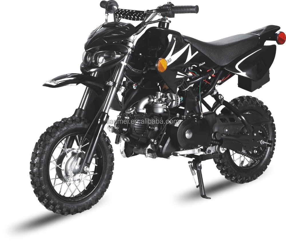 low seat height dirt bike with head light drum brake