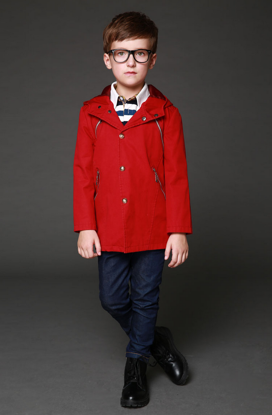Fashion children wear boys single-breasted windbreaker coats for boys wear