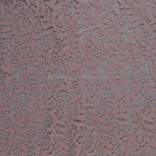 chemical milk lace eyelet fabric flat pink color water soluble embroidery