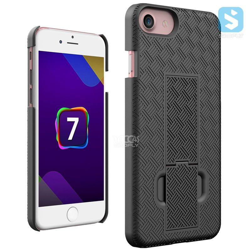 Shell Holster Combo Case for Apple iPhone 6 4.7 Inch Screen With Kick-Stand and Belt Clip