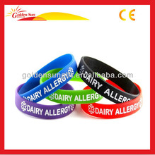 Cheap Promotional Thin Silicone Bangle Or Wristband