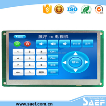 Industrial 4.3 lcd display with RS232 / TTLUART Interface for public information terminals