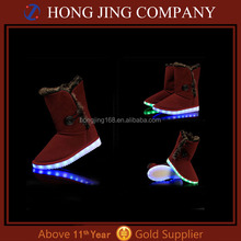 USB Rechargeable LED Snow Boots Flashing Snow Boots With Lights