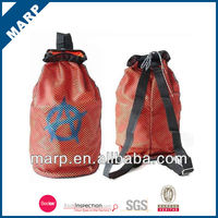 Promotional drawstring tote beach bag