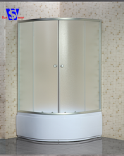China suppliers custom round corner baths with shower screen