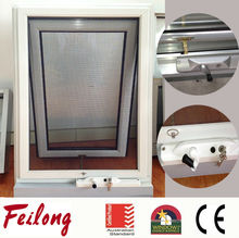 Chain winder aluminum top hung glazed glass awning window wih AS2047