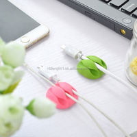 New idea high quality wiring accessories 3 slots earphone plastic silicone cable tie