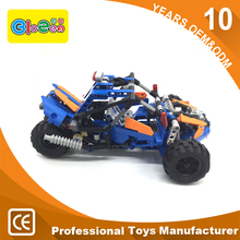 Kids Building Blocks Motorcycle Toy Plastic Children's Toy Motor Tricycle