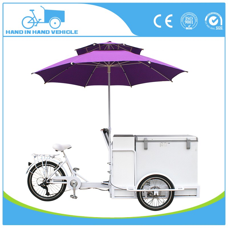 Hot sale battery ice cream van freezer for sale