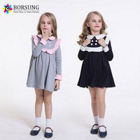 Winter Fashion Toddler Girls Dress Long Sleeve Baby Girl's School Dress Clothes Casual Cotton Kids Girls Dress