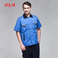 Summer Short Shirt Mechanic Uniforms 2 Piece Overalls