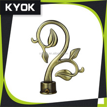 Modern Country and Rustic Style Copper Curtain Rod Finials, Leaf Making Finials for Kids Curtain