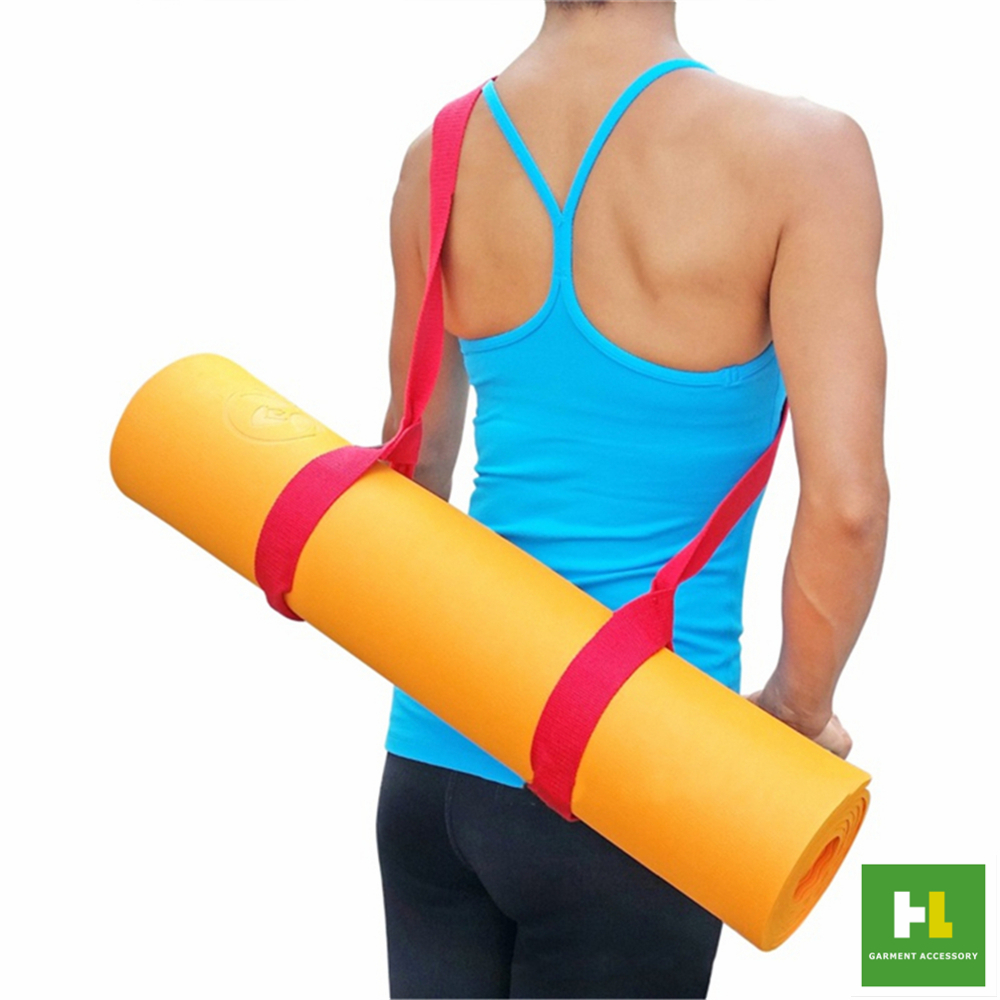 Custom soft polyester cotton yoga mat strap with cheap price
