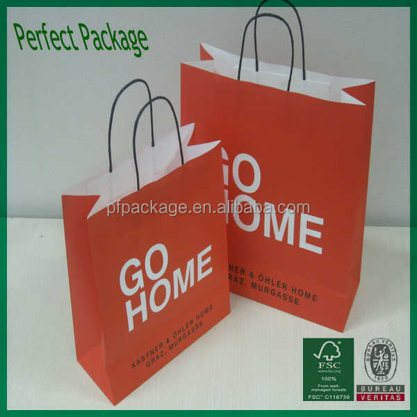 2015 Pretty gift paper bag/shopping bag for Channel