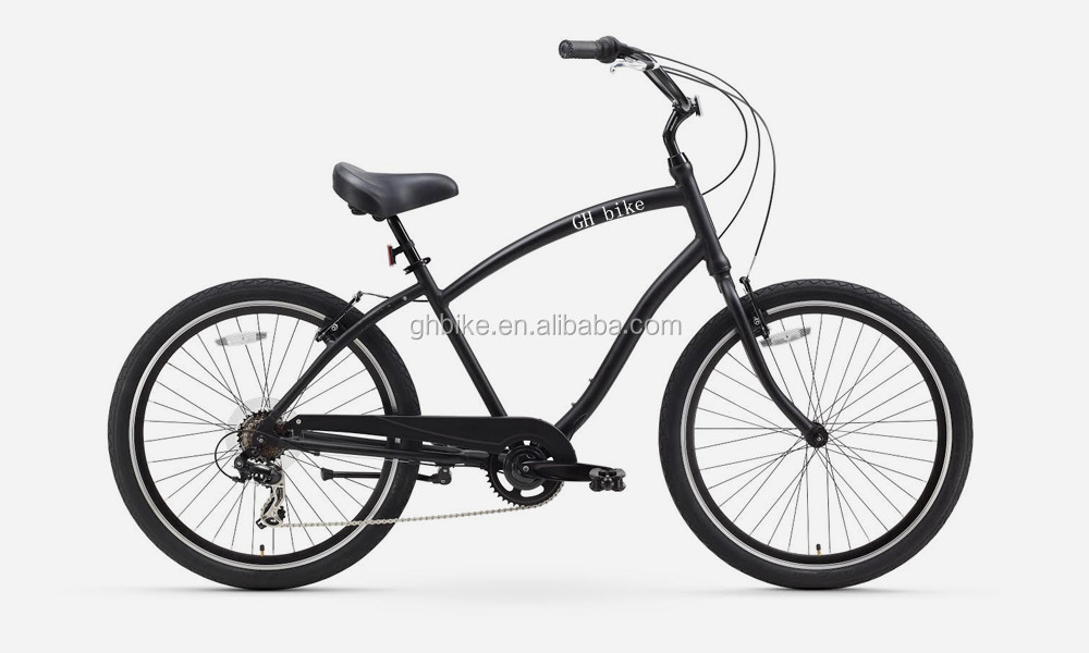 man's aluminum alloy frame beach cruiser bike high quality beach bicycle 7 speed hybrid bike