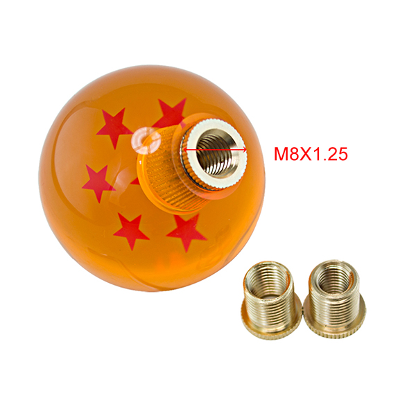 JDM Dragon Ball Crystal Gear shift knob ball With 3 Adapters and Car Strap,Fits Most Car Gearshifts