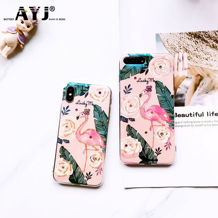 Custom Design Flamingo Printed Waterproof Cell Phone Case For Iphone 7Plus/8/X/6S