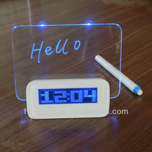 Elegant Design 4 Port USB Hub LED Alarm Clock with card holder