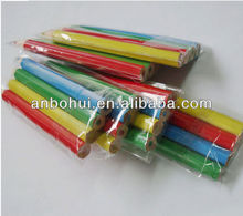2014 hot selling 3.5 inches hexagonal mini color pencil with pre-sharpener in pvc bag / mini colour pencil set