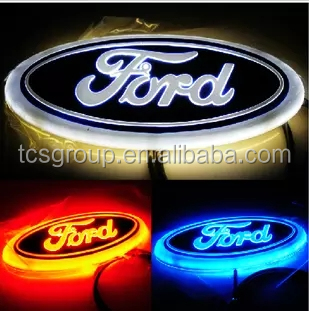 New auto led car emblem for ford