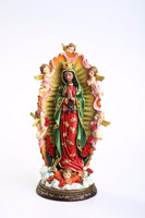 2016 New Design Resin Virgen de Guadalupe Figure, Resin Religious Madonna For Christmas Decoration