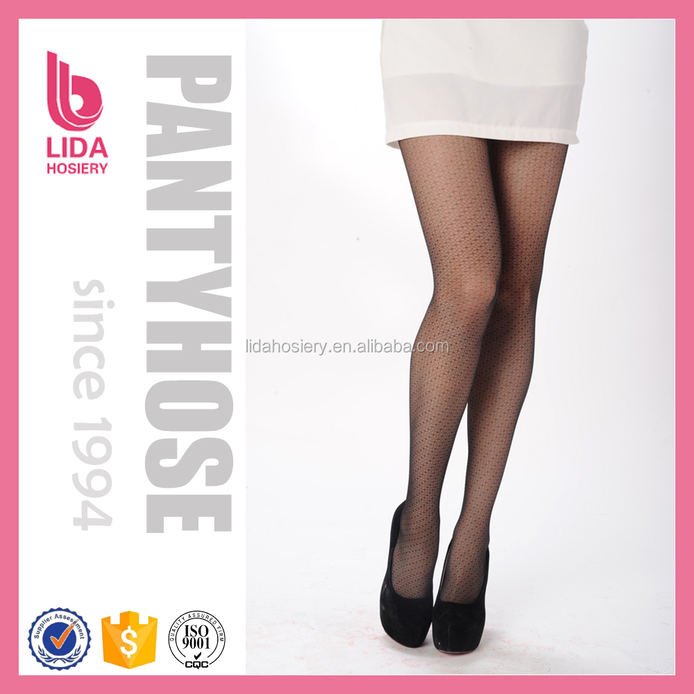 Bright & shadow diamond pattern mature pantyhose sex
