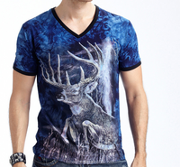 100% cotton t shirt factory-made new design low price animal printed 3d t shirt tshirt printing