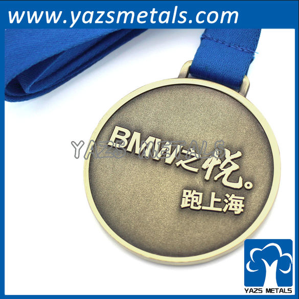 Metal gold silver brass plating medals sports