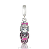 Gymnastic Gifts Japenese Doll Charm Lucky Wholesale Stock Charms S362