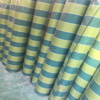 waterproof polyester striped awning curtain fabric canvas tent oxford fabric