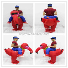HI CN 71 Red bird ride inflatable costume,Inflatable turkey costume