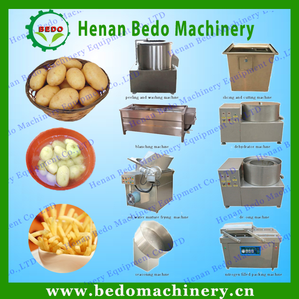 Small Potato Chips Making Machine French Fries Machinery