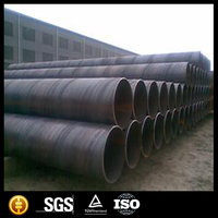 Q235B black steel spiral pipes/Oil and Gas large diameter carbon welded steel spiral pipe/ssaw steel pipe