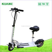 "electric scooter 2 wheels 10""pneumatic air tire consume shocking with a autograde seat"