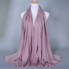 muslim women cotton plain jersey hijab pink color shawls scarf