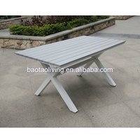 aluminum dining bench and table, outdoor garden furniture, restaurant wood table and chair