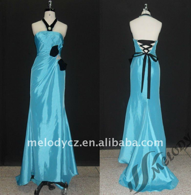 Latest product different sky blue taffeta halter designs dress types of nighties