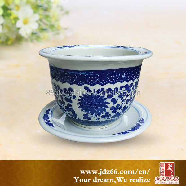 Chinese Blue and White Ceramic Ornament Garden Pot