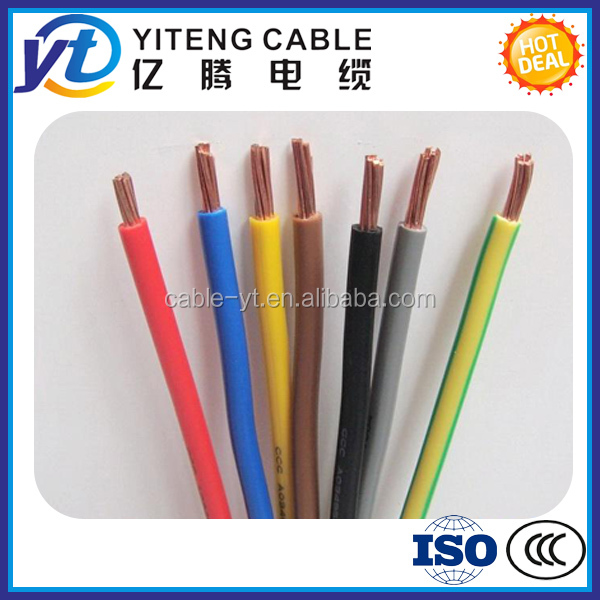300/450v 450/750V pvc single core kabel lv