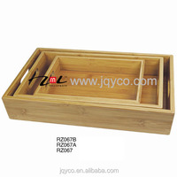 factory price wooden breakfast set tray,sushi tray sets with LFGB/FDA