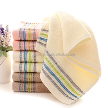 Colorful Border Premium Quality Hotel Face Towels Strong Absorbent Bath Towels Cotton