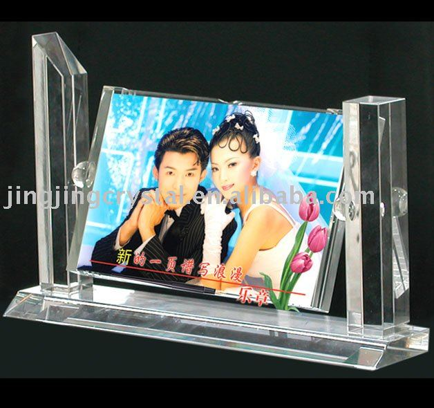Valentines gift for lovers romantic popular home decoration crystal wedding photo frame