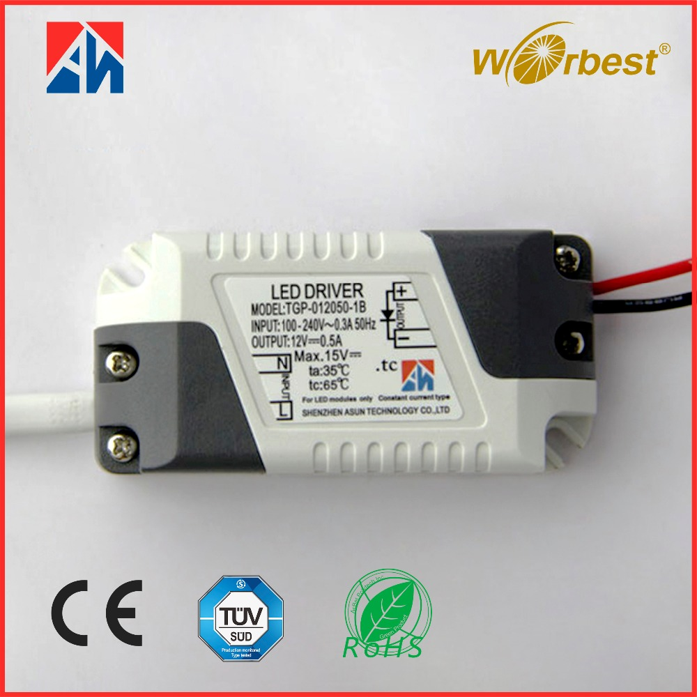 High quality moso led driver 12v constant voltage 6w 500mA led indoor power supply ac 100-240v
