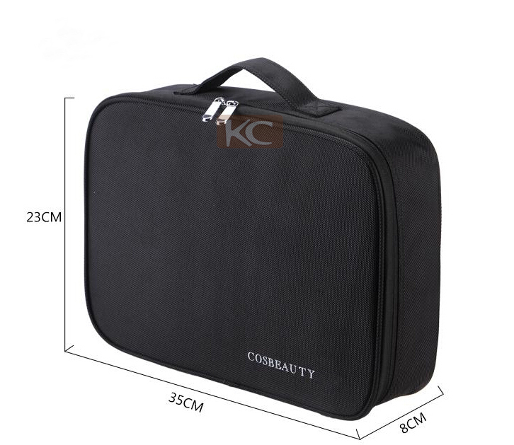 Hanging Travelling Salon equipment cosmetic hairdressing make up bag, soft nylon hanging cosmetic bag