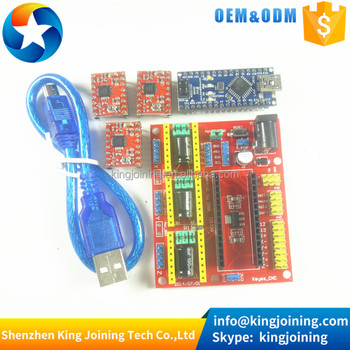 KJ136 CNC shield v4 engraving machine + 3pcs A4988 + Nano (with cable ) kit for Arduinos