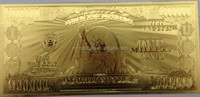 China made euro gold foil banknote cheap sale