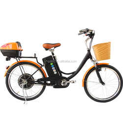 classcial 24 inch 36v 350W optional with 12 ah lead acid battery e-bikes city use lady cheap electric bike