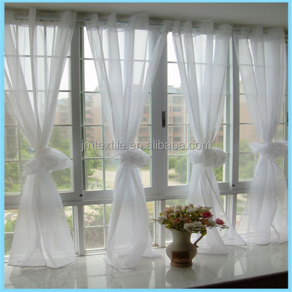 whole sale embroidered sheer voile curtain fabric,