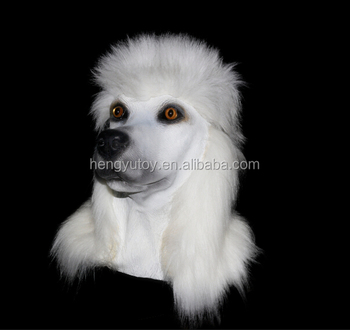 Hot-selling Poodle Cosplay Animal Mask Carnival Costume Head Latex Dog Mask for Party