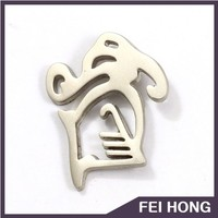 Wholesale Quality Metal Custom cut out mat nickle Lapel Pin